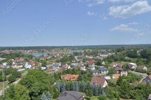 Fototapeta Panorama polskiego miasta / Panorama of Polish city obraz