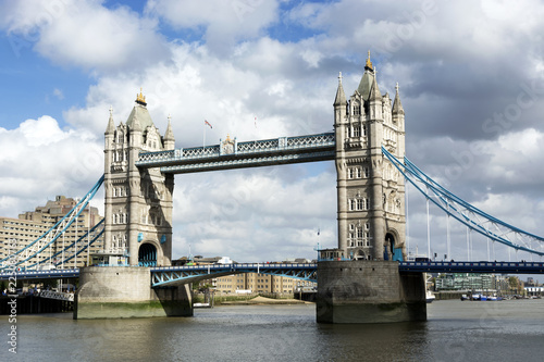 Fotografie, Obraz  Tower bridge over the river Thames in London city in 19
