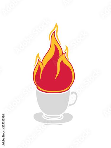 Tasse Tee Kaffee Kuchen Trinken Durst Cafe Lecker Durstig Feuer