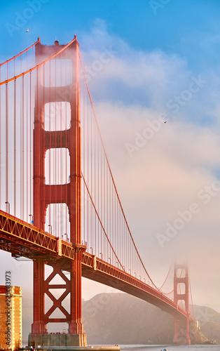 Fotobehang Amerikaanse Plekken Golden Gate Bridge at morning, San Francisco, California