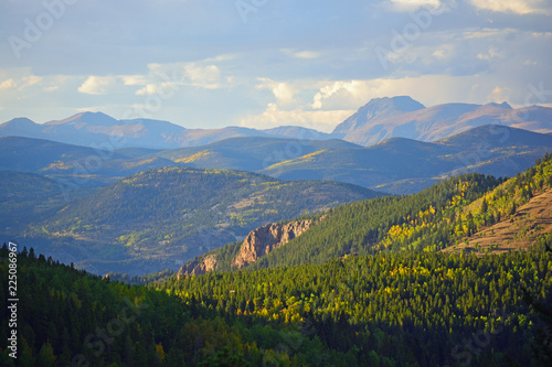 Mt. Evans Wilderness Area in Colorado with Colorful Fall Leaves Canvas