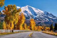 Highway In Colorado Rocky Moun...