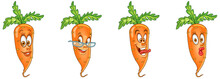 Carrot. Vegetable Food. Emoji Emoticon Collection.