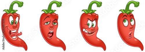 Red Chili Pepper. Żywność roślinna. Kolekcja emotikonów Emoji.
