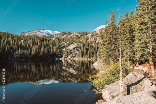 Deurstickers Centraal-Amerika Landen Bear Lake, Rocky Mountains, Colorado, USA.