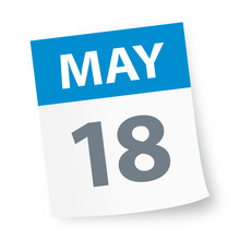 May 18 - Calendar Icon