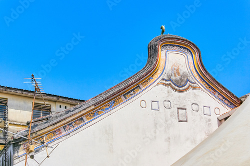 Foto op Canvas Oude gebouw Old house in Penang island, Georgetown, Malaysia