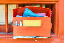 Red Vintage Letter Box
