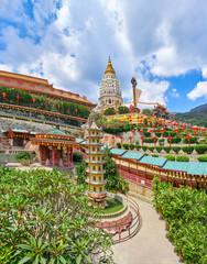 Kek Lok Si Temple panoramic view on Penang island, Georgetown, Malaysia