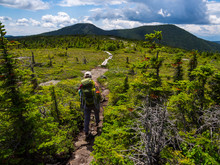 Hiker On Appalachian Trail In ...