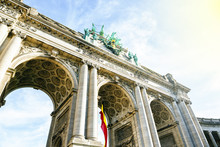 The Triumphal Arch Of Brussels In Belgium