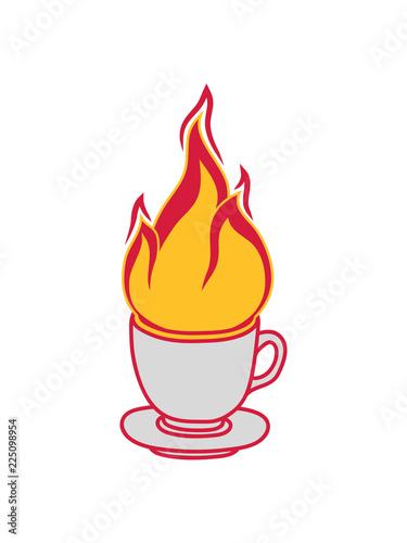 Kaffee Tee Tasse Kuchen Trinken Durst Cafe Lecker Durstig Feuer