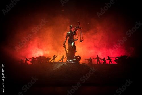 War - no justice concept Canvas Print