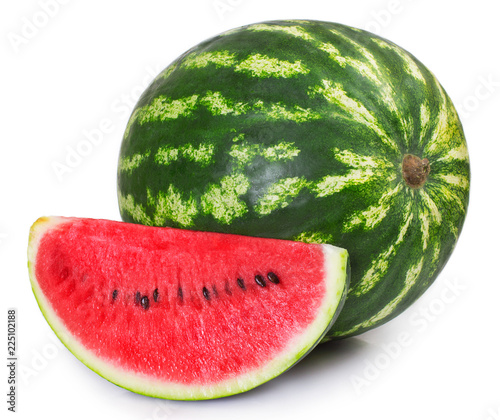 Fresh watermelon on white background
