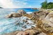 Beautiful wild lonely beach, police bay, seychelles 20