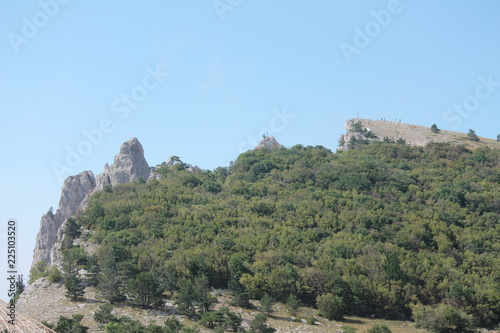 Spoed Foto op Canvas Khaki ancient ruins of old castle