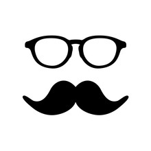Man Glass And Mustache Image. ...