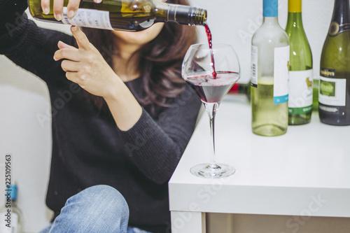 アルコール依存症の女性 Slika na platnu