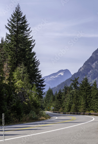 Fotografie, Obraz  Scenic road through the North Cascades National Park