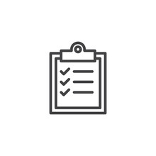 Checklist Clipboard Outline Ic...