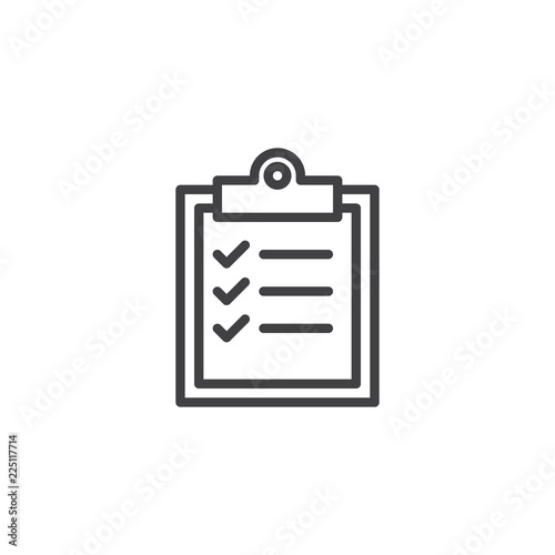 Fotografía  Checklist clipboard outline icon