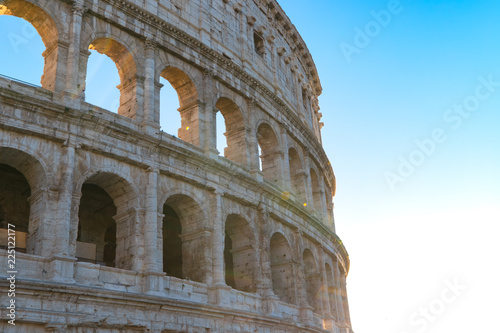 The colosseum the world famous landmark in Rome Italy.