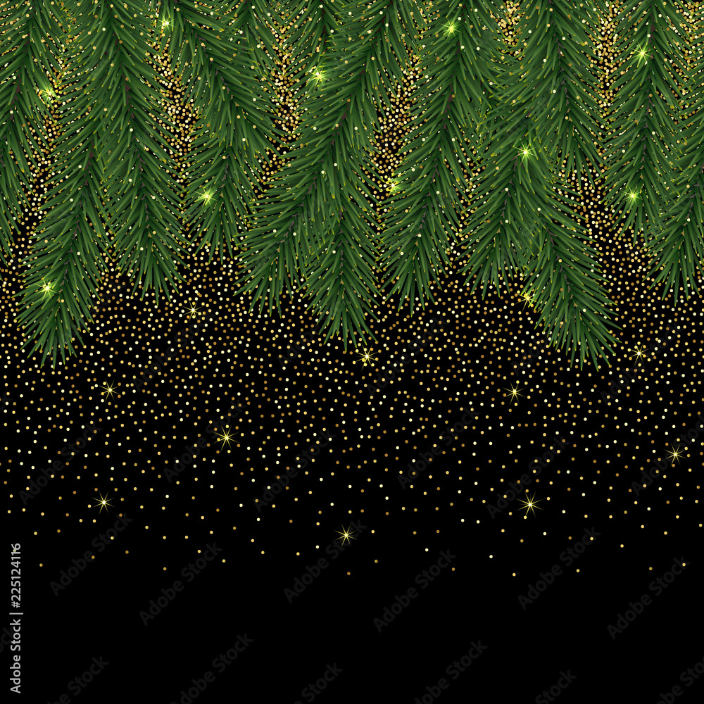 photo art print christmas and new year seamless border with glitter europosters