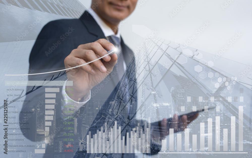 Fototapeta Stock market analysis