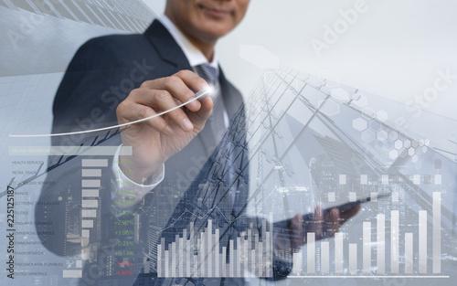 Photo Stock market analysis