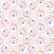 Cartoon cute rabbit and camera seamless pattern vector.