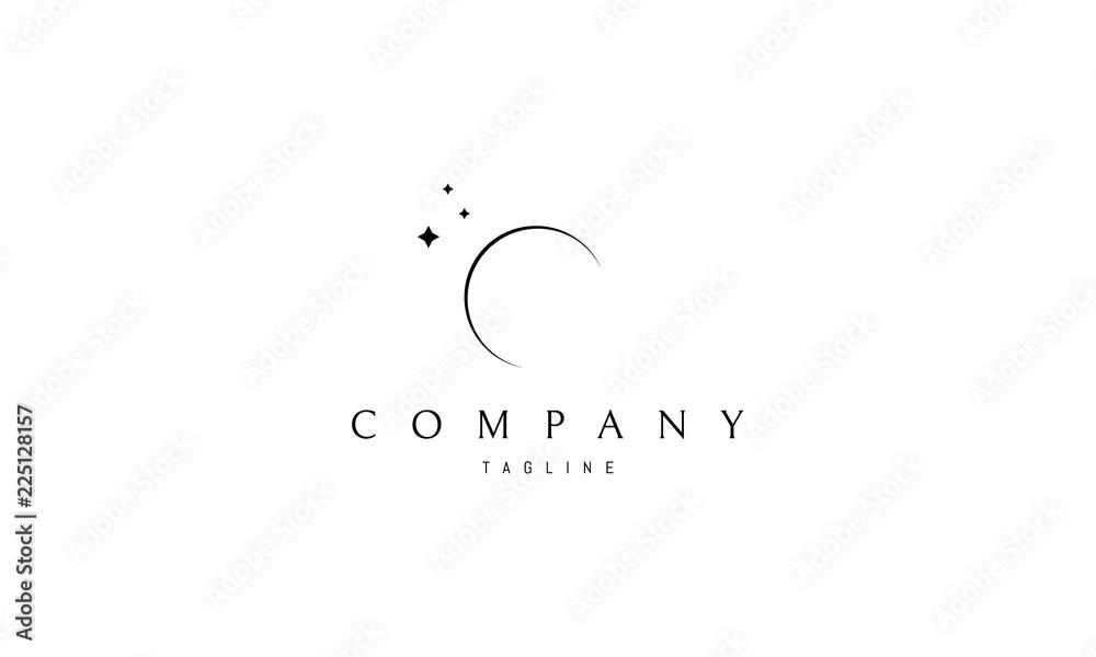 Fototapety, obrazy: Moon vector logo image