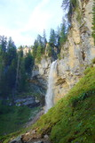 Johannes waterfall which can be visited and seen from all angles located in Untertauern in Austria