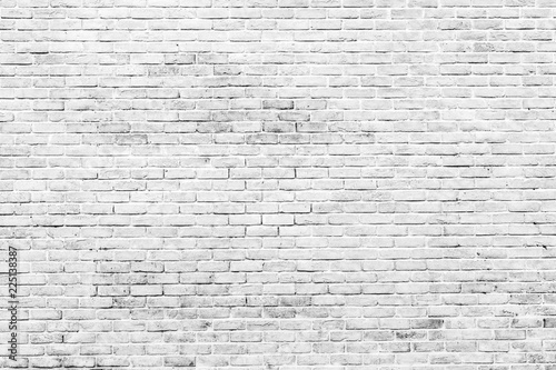 Fond de hotte en verre imprimé Brick wall White and grey brick wall texture background with space for text. White bricks wallpaper. Home interior decoration. Architecture concept. Background for sad, hopeless and despair concept.