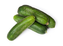 Group Of Natural Cucumbers