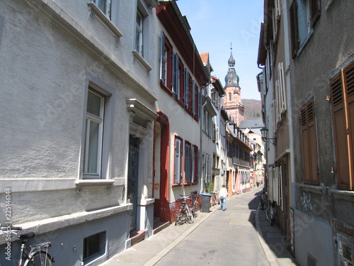 Keuken foto achterwand Smal steegje Krämergasse Heidelberg