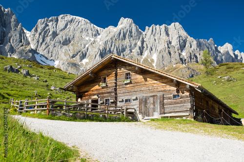 Keuken foto achterwand Alpen Berhütte