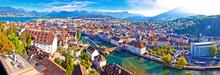 City Of Luzern Panoramic Aerial View