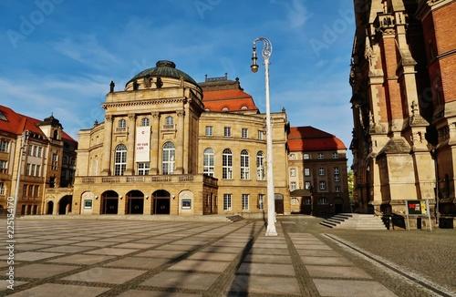 Foto op Plexiglas Theater Chemnitz, Opernhaus am Theaterplatz