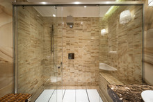 Shower Cabin Made Of Glass In ...