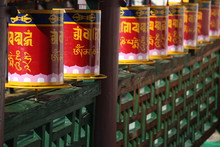 Exterior Colorful Prayer Wheel...
