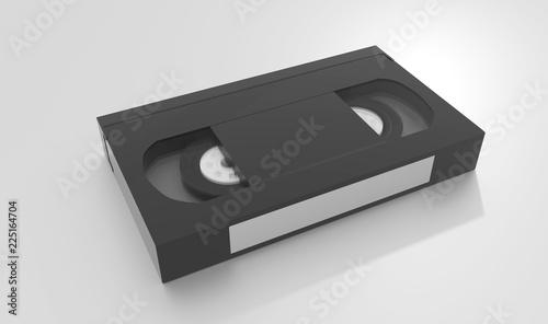 Foto VHS Videotape on Plexiglass