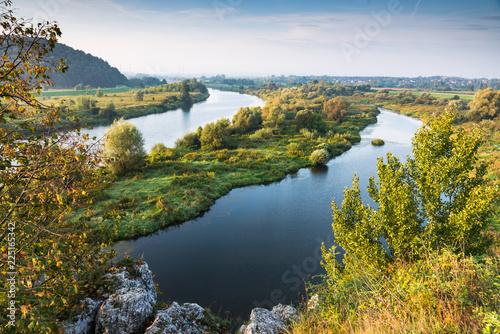 Foto auf AluDibond Rosa dunkel Vistula river near Cracow in Poland
