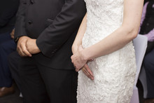 Wedding Ceremony. Bride And Groom Waiting