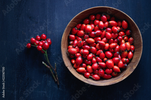Freshly picked rose hips. Rose hips of the dog rose.