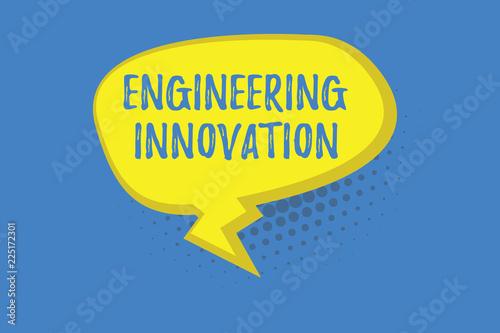 Fotografía  Word writing text Engineering Innovation