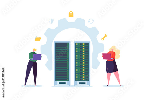 Canvas Print Data Center Technology Concept