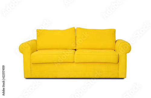 Comfortable sofa on white background Wallpaper Mural