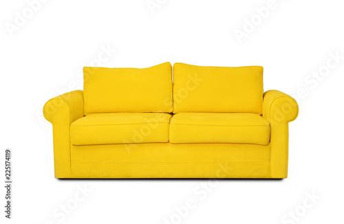 Vászonkép Comfortable sofa on white background