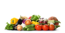 Heap Of Fresh Ripe Vegetables ...