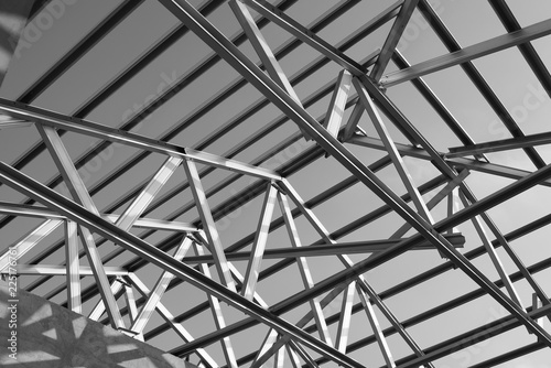 Fotomural Structure of steel roof frame.